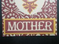 Mother layers adhered to card