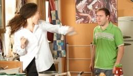 she viciously lashes out at him!!