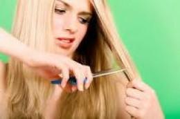 Trim hair to take away the split ends.