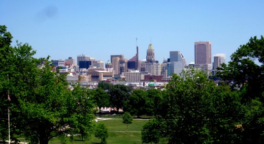 View of Baltimore from Mount Clare