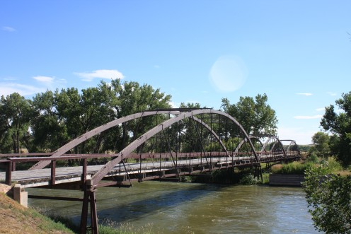 Fort Laramie Bridge, built in 1875.