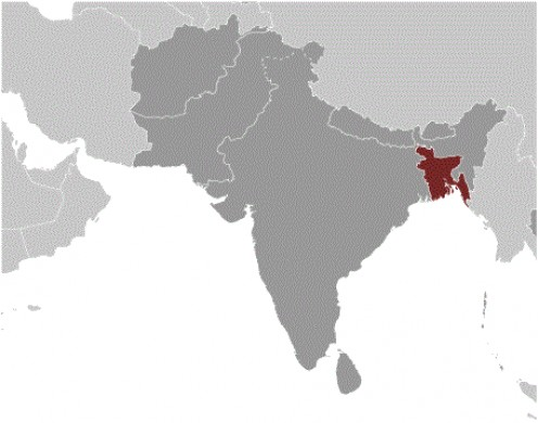 Bangladesh is home to approximately 159,000,000 people on 50,258 sq mi of land.