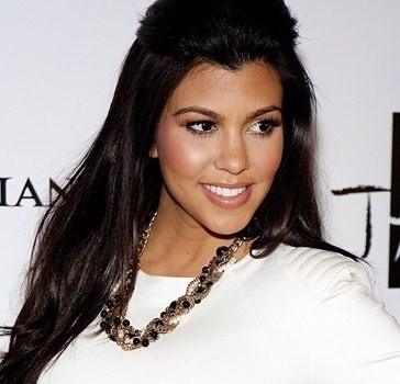 The Beautiful Kourtney Kardashian in Her Makeup