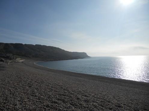 A calm evening at Chesil Cove, Portland, Dorset