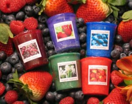 The Candle:  Berry Scented Votives