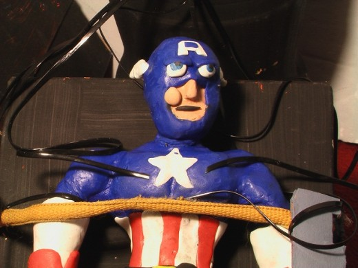 Captain America Strapped Down