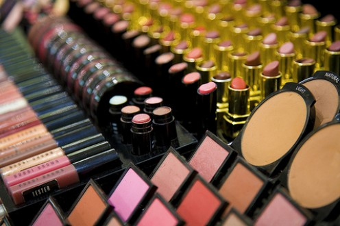 A display of the wide array of cosmetics available today.  What they don't tell you is that these cosmetics contain some very nasty and toxic ingredients.