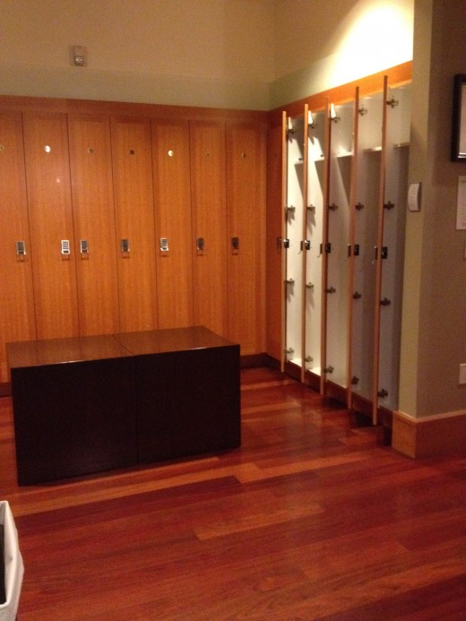 Spa guests are provided lockers in which to hold their valuables and clothing.