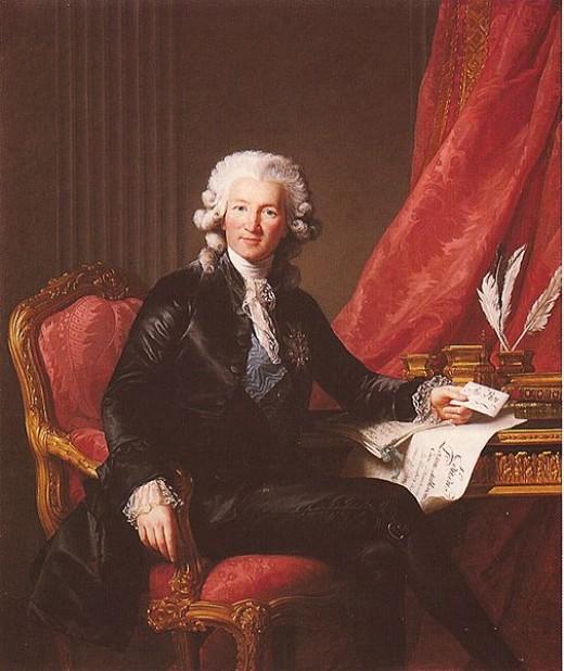 A portrait of Calonne by Elisabeth Vigée-Lebrun
