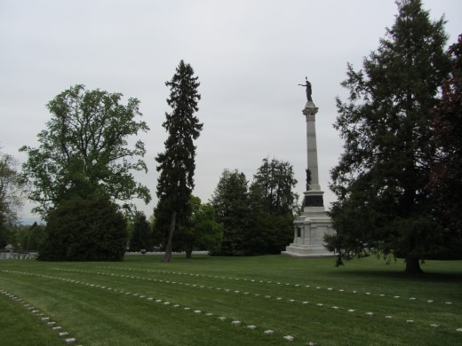 Soldiers' National Monument near the site of the Gettysburg Address