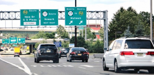 Without the blue laws that dictate which stores should and shouldn't close on Sundays in Paramus, traffic, like that on Route 4 (at its heckish interchange with Route 17, one of its many high-traffic areas), would make churchgoers late for services.