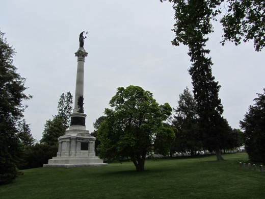New York State Monument at the Soldiers' Cemetery in Gettysburg