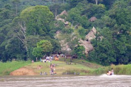 The Embera Indian Village on the Chagres River.