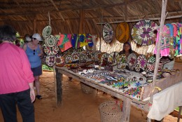 One of the craft tables of the Embera Indians.