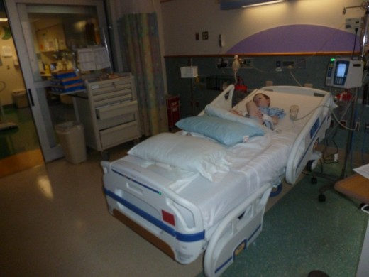 Our son spent the first two days in the PICU, and struggled with pain and thirst during this time. Children who have fundoplications are not allowed anything to eat or drink for the first few days after surgery.