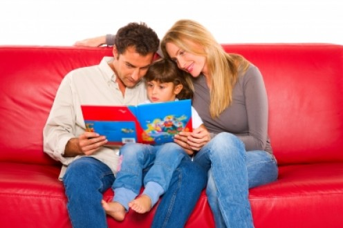 Reading with your child is excellent family time and very education for them!