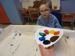 The playroom and activities on the regular ward made the hospital stay more enjoyable for our son.
