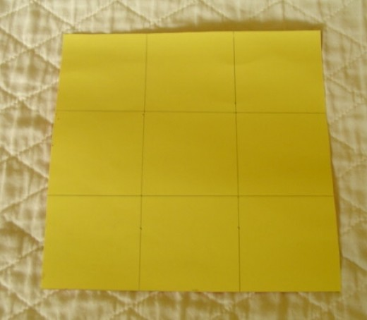 Paper marked in squares
