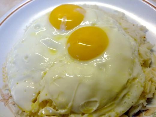 Bi pong moun (or rice and egg)