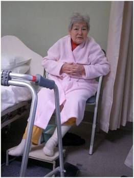In hospital after a fall