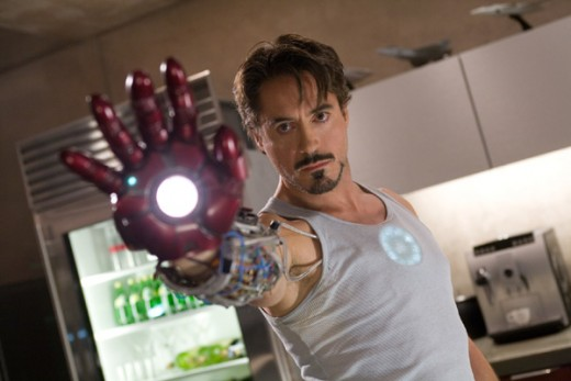 Robert Downey Jr in Iron Man (2008)