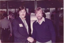 Dad with Chuck Norris