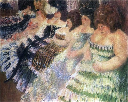 "A painting by Igor Grabar in 1904 entitled, ""Fat Women."" Do you see how a society is influenced by the visual arts?"