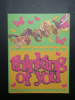 Easy to Make Thinking of You card with your Cricut