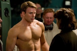 Chris Evans as Steve Rogers in Captain America (2011)
