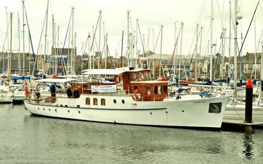 The Lanthony- moored at Bangor- Wales- one of the little ships who helped save lives at Dunkirk