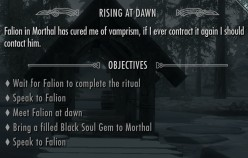How to cure vampirism in Skyrim.
