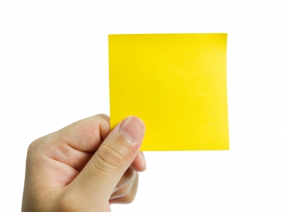 Use a sticky note to mark places where you want to remove something or install something on your next visit