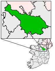 Map location of County Cavan, Ireland