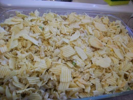 Ahh . . . that's better. Nothing like some potato chips to make dinner beautiful, eh?