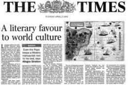 The Times front cover in earlier days before Wapping