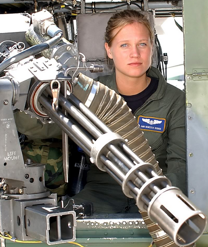 US woman as a gunner