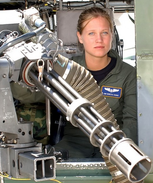 US woman as a gunner