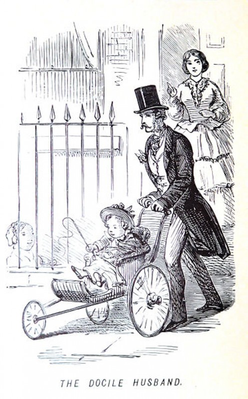 In the old days, few men could be seen pushing prams