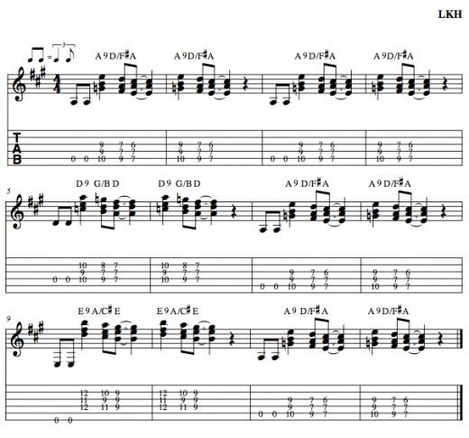 Blues Guitar Chord Progressions u2022 The Three Chord Progression u2022 Part 5 u2022 Chords, Tab, Video Lessons