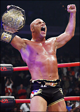 Kurt Angle as tna heavy weight champion