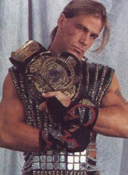 Shawn Michaels as wwf wwe heavyweight champion