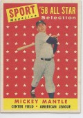 Discussion:  Why is 1958 Topps Mantle All Star so Inexpensive?