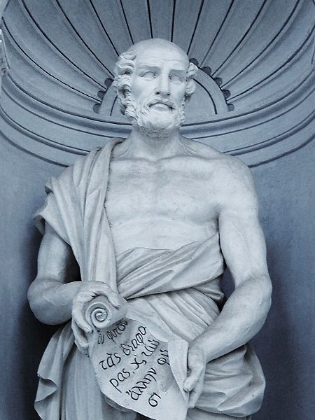 Theophrastus of Eresos, author of the first scientific work on Botany