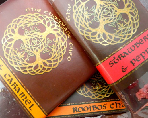 Some of the varieties of chocolate available from The Chocolate Tree