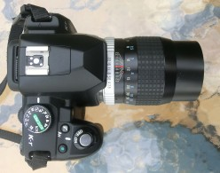 Pentax k-r with a fully manual Hoya HMC Tele-Auto 135mm f2.8