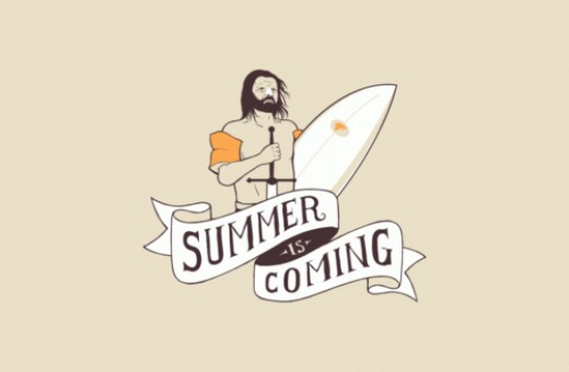 Poking fun at the motto of the Stark Family - Summer is coming