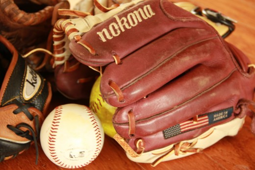 Store gloves with a softball in the pocket, and the glove resting pocket-down, web-up