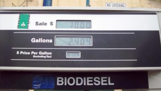 Biodiesel is about the same price as regular diesel.