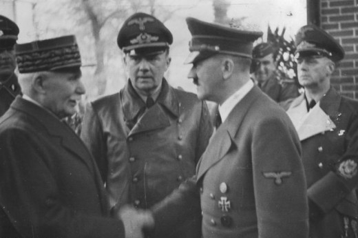 Hitler meeting Field Marshall Petain