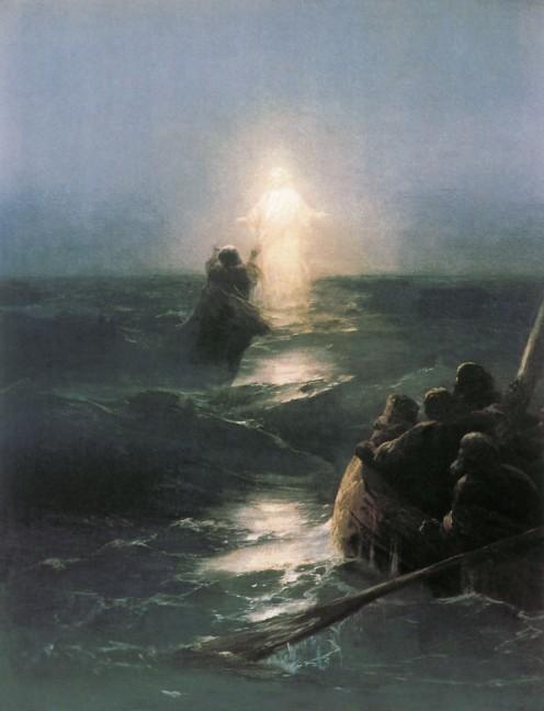 """""""Jesus Walks On Water,"""" by Ivan Aivazovsky (1888)"""